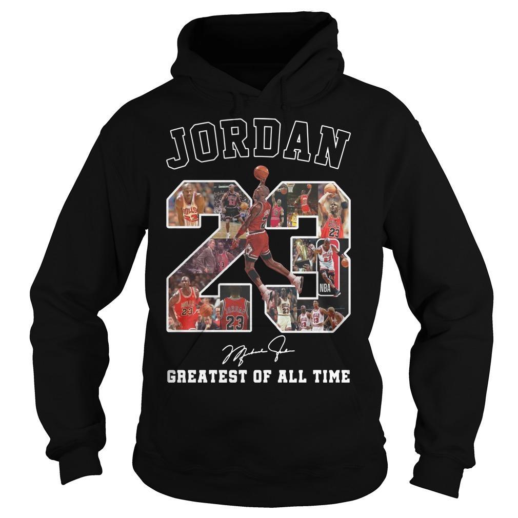 Jordan Greatest Of All Time Signature Hoodie