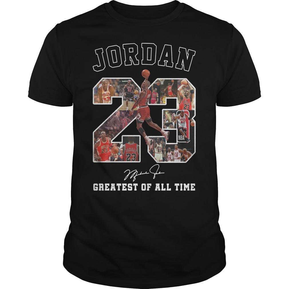 Jordan Greatest Of All Time Signature Shirt