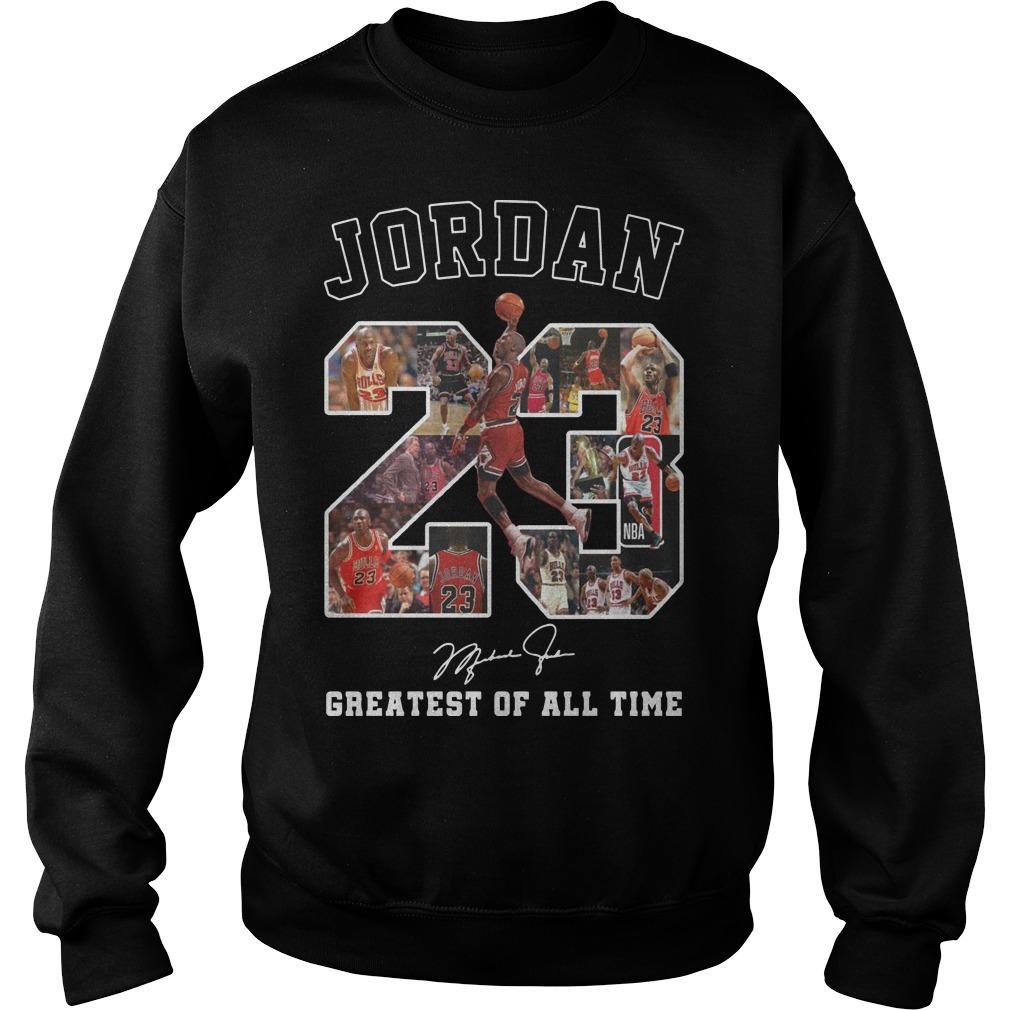 Jordan Greatest Of All Time Signature Sweater