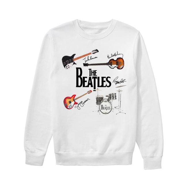 Guitars Instrument The Beatles Signatures Sweater