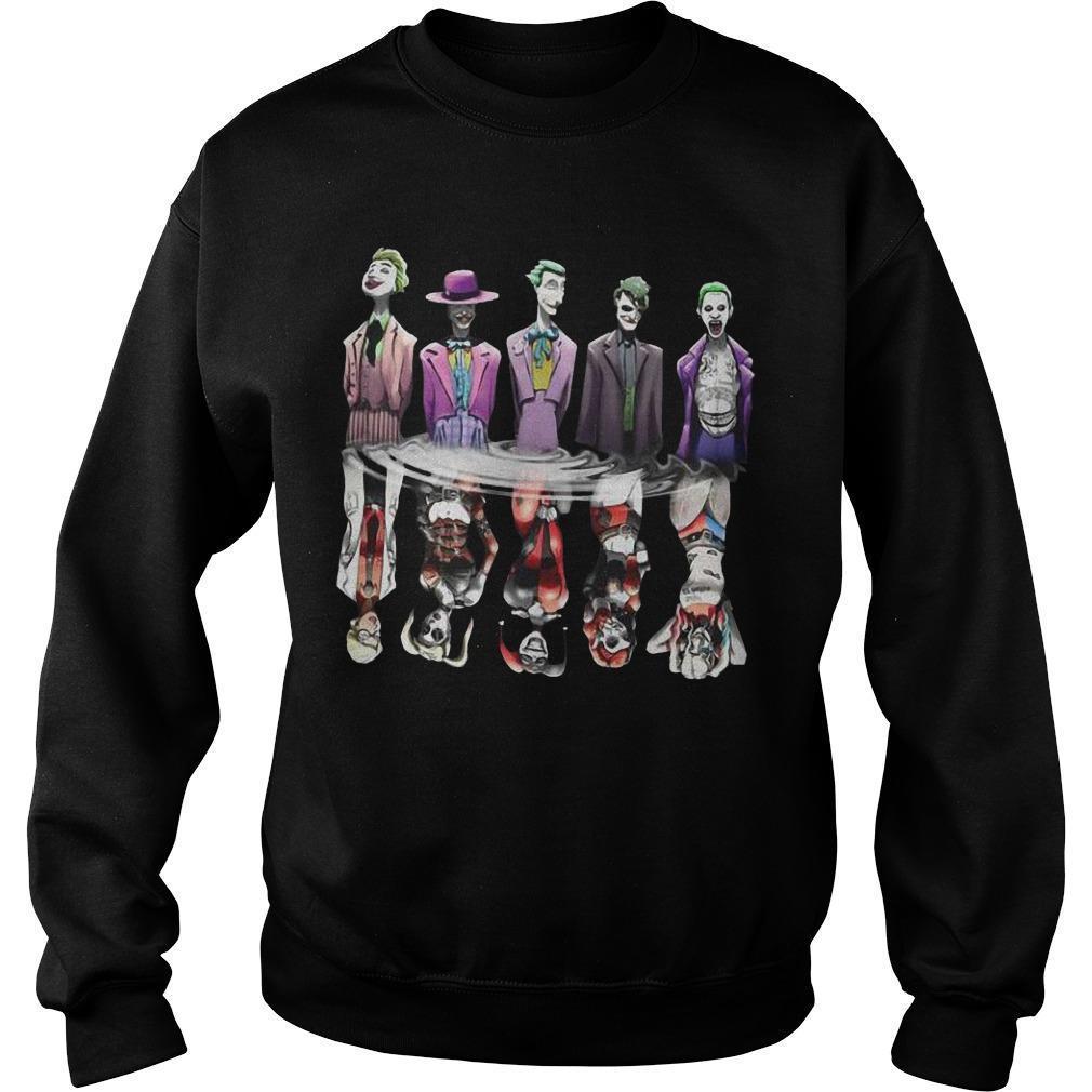 Joker Reflection Mirror Water Harley Quinn Sweater