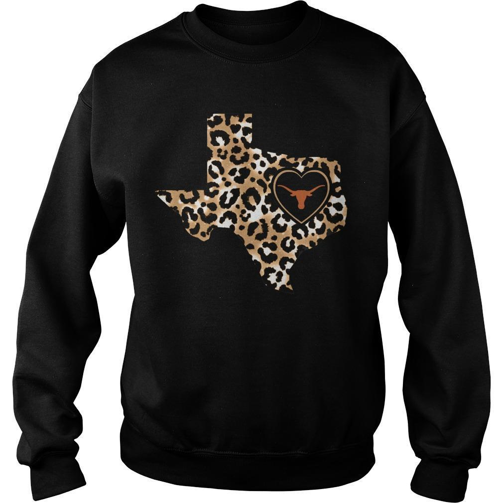 Leopard Print Texas Longhorns Sweater