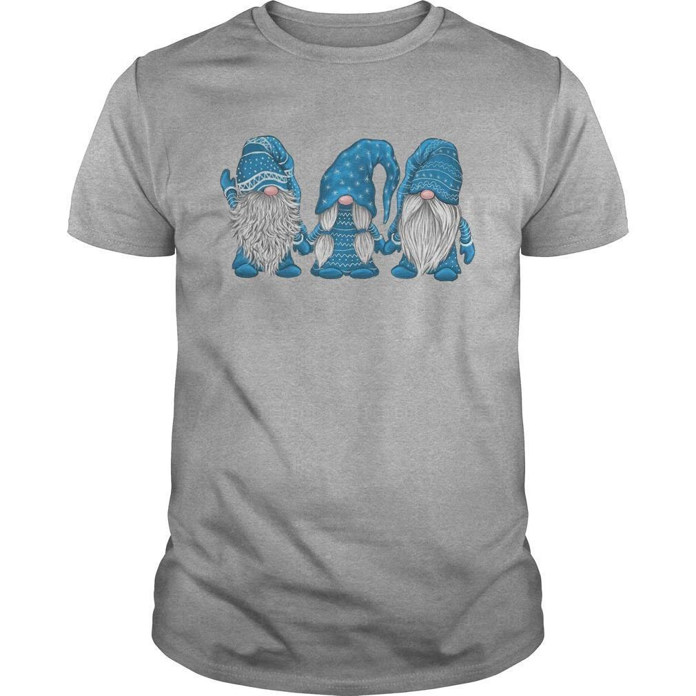 Christmas Hanging With Blue Gnomies Shirt