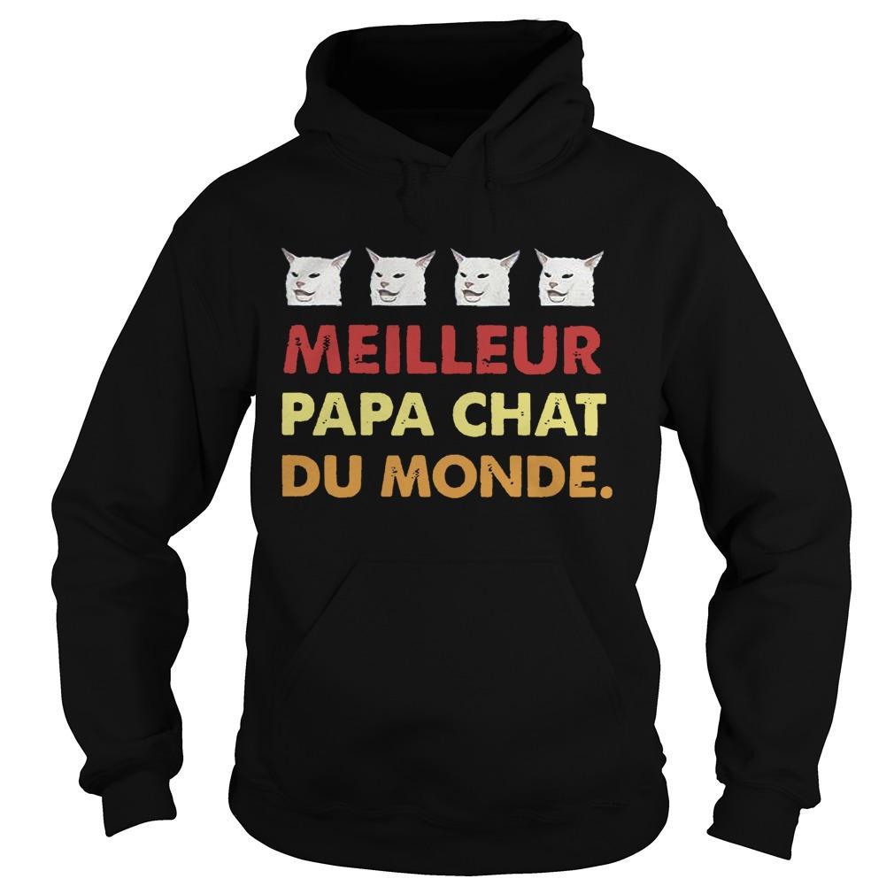 Cat Meilleure Papa Chat Du Monde Hoodie