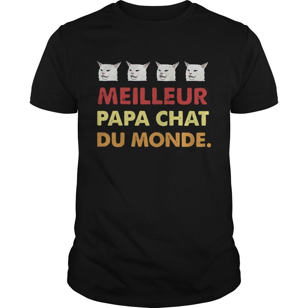 Cat Meilleure Papa Chat Du Monde Shirt