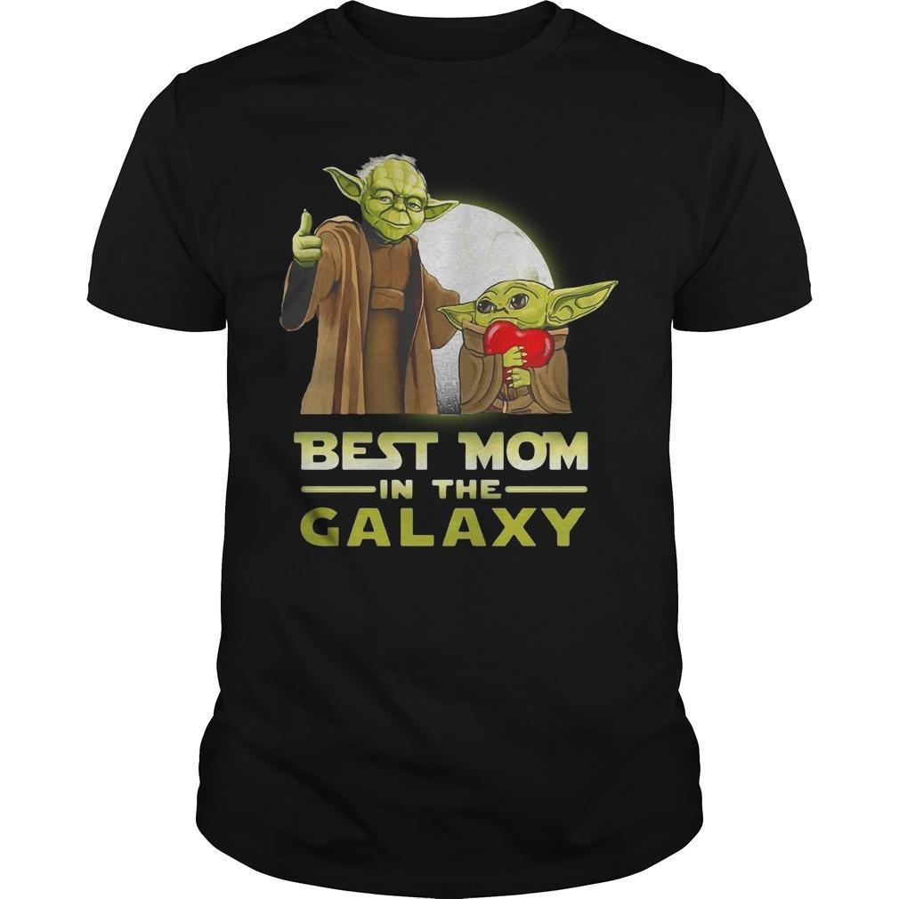Master Yoda And Baby Yoda Best Mom In The Galaxy Shirt