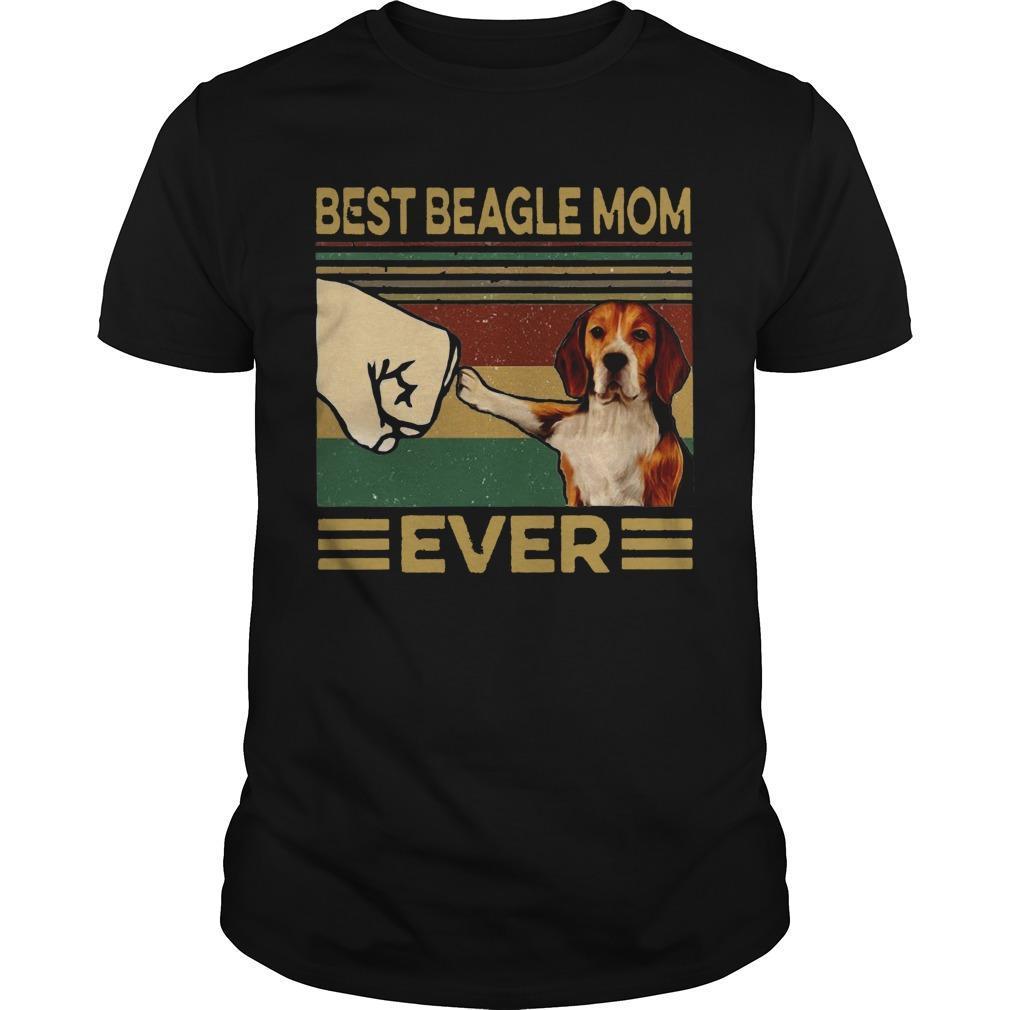 Vintage Best Beagle Mom Ever Shirt