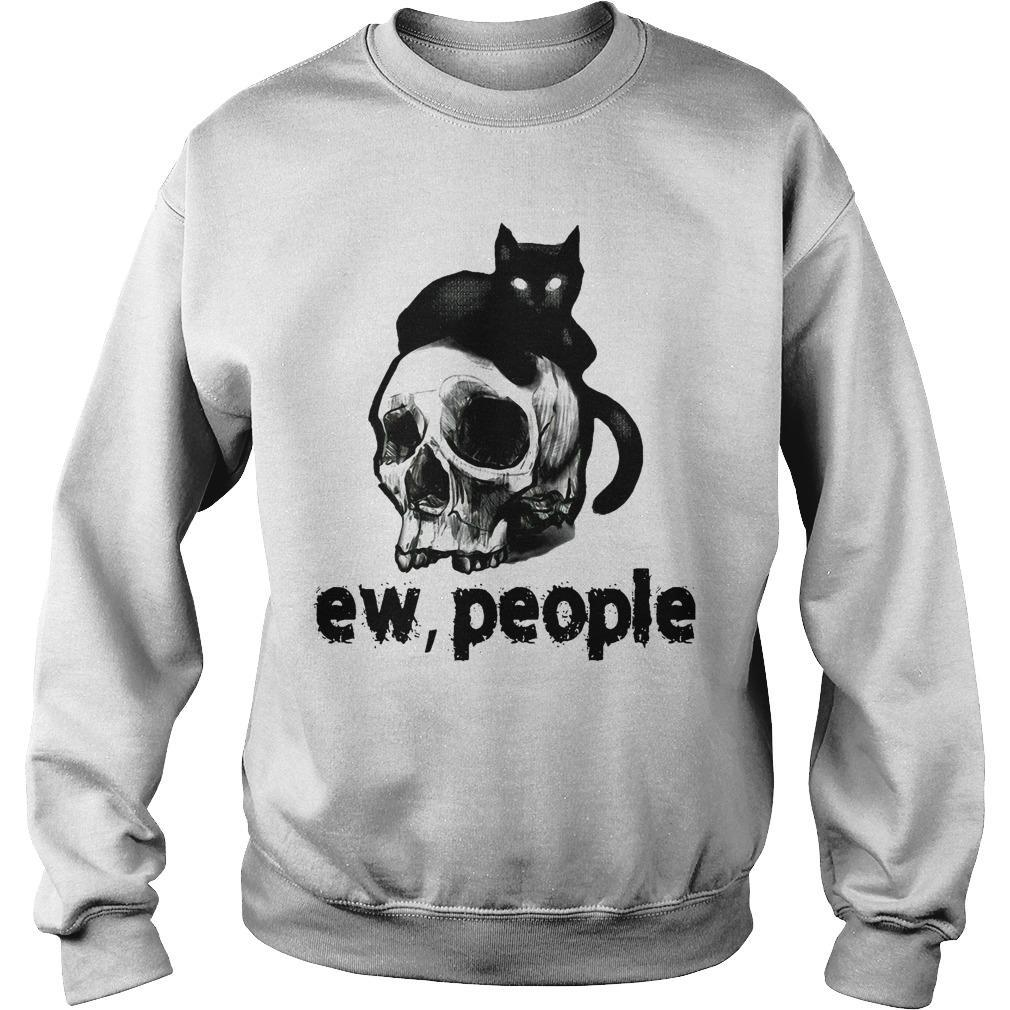 Black Cat And Skull Ew People Sweater
