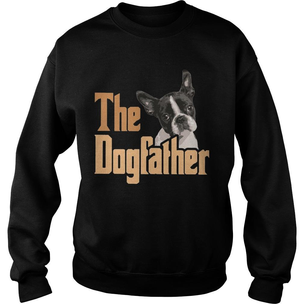 Boston Terrier The Dogfather Sweater