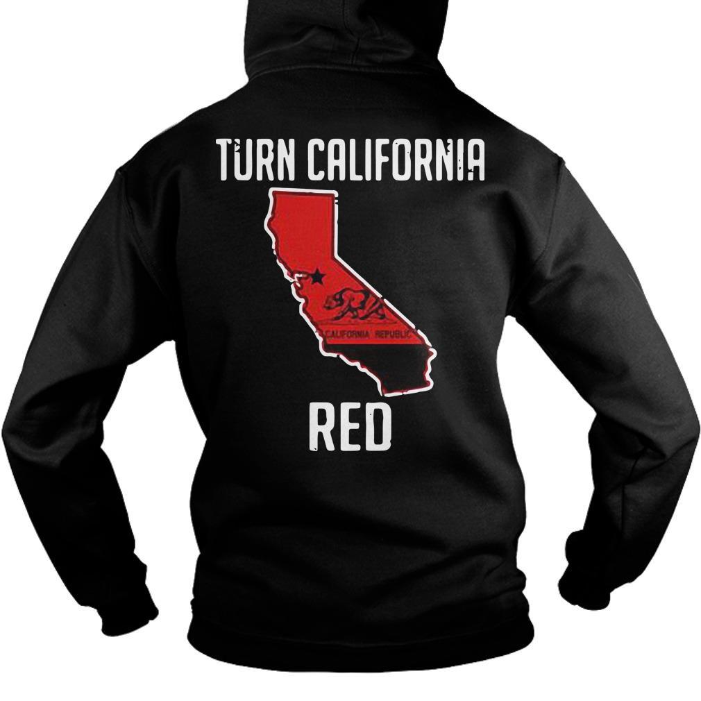 Turn California Red Hoodie