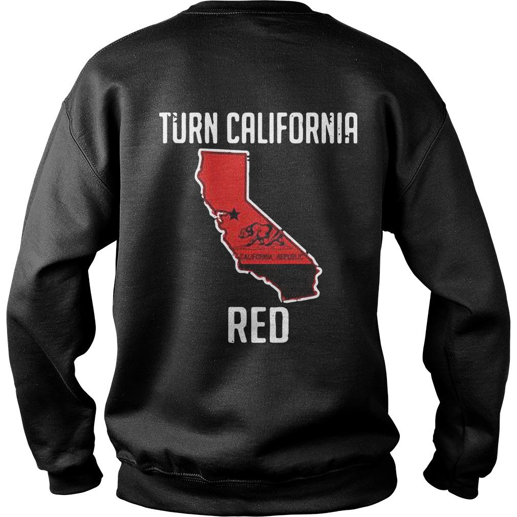 Turn California Red Sweater