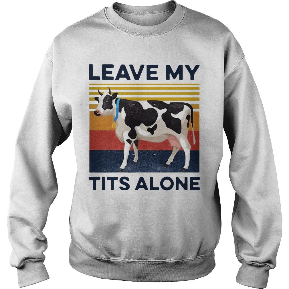 Vintage Cow Leave My Tits Alone Sweater