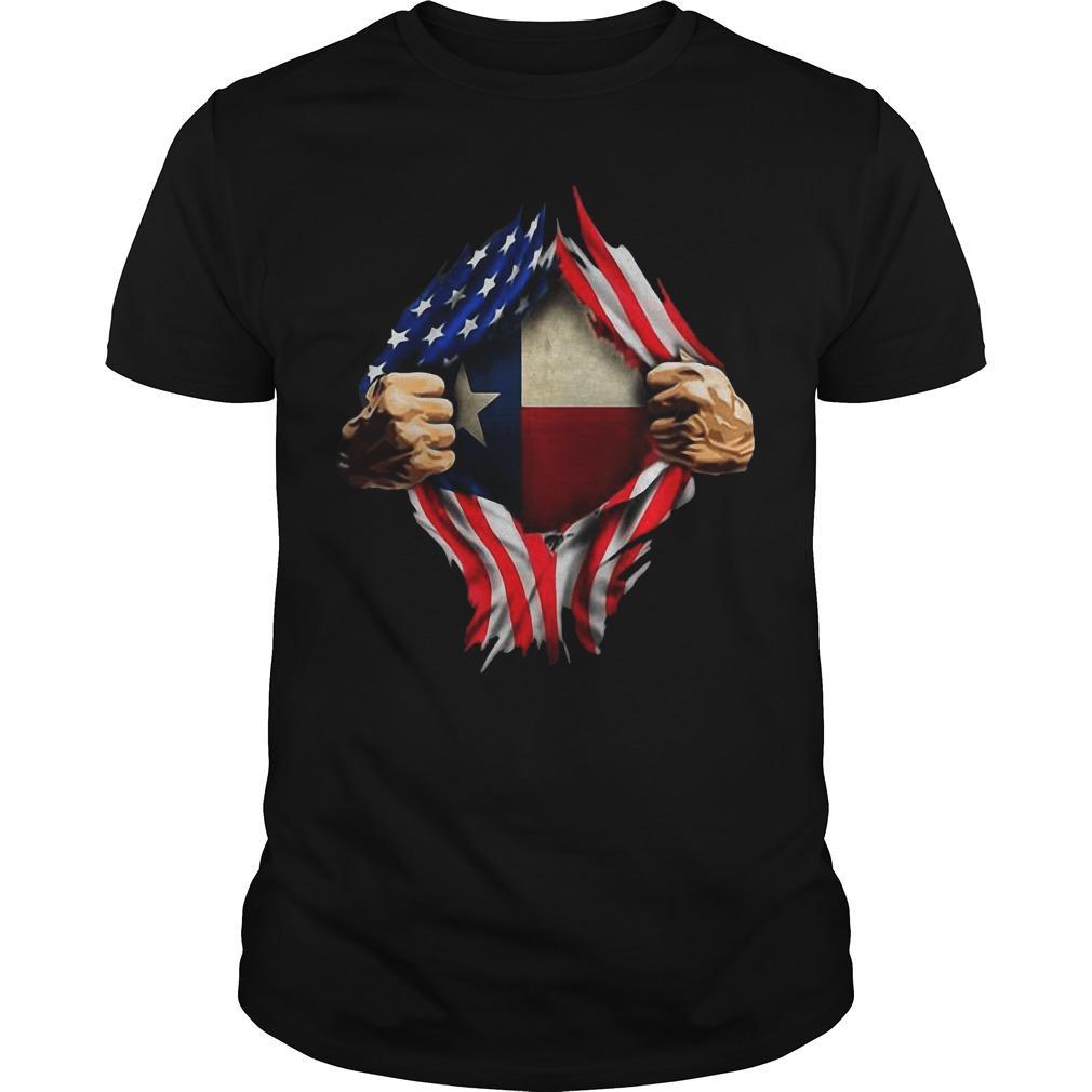 American Flag Texas Proud Inside Me Shirt