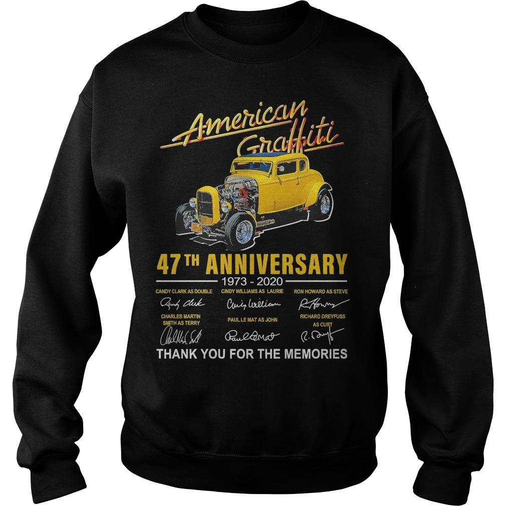 American Graffiti 47th Anniversary 1973 2020 Thank You For The Memories Sweater