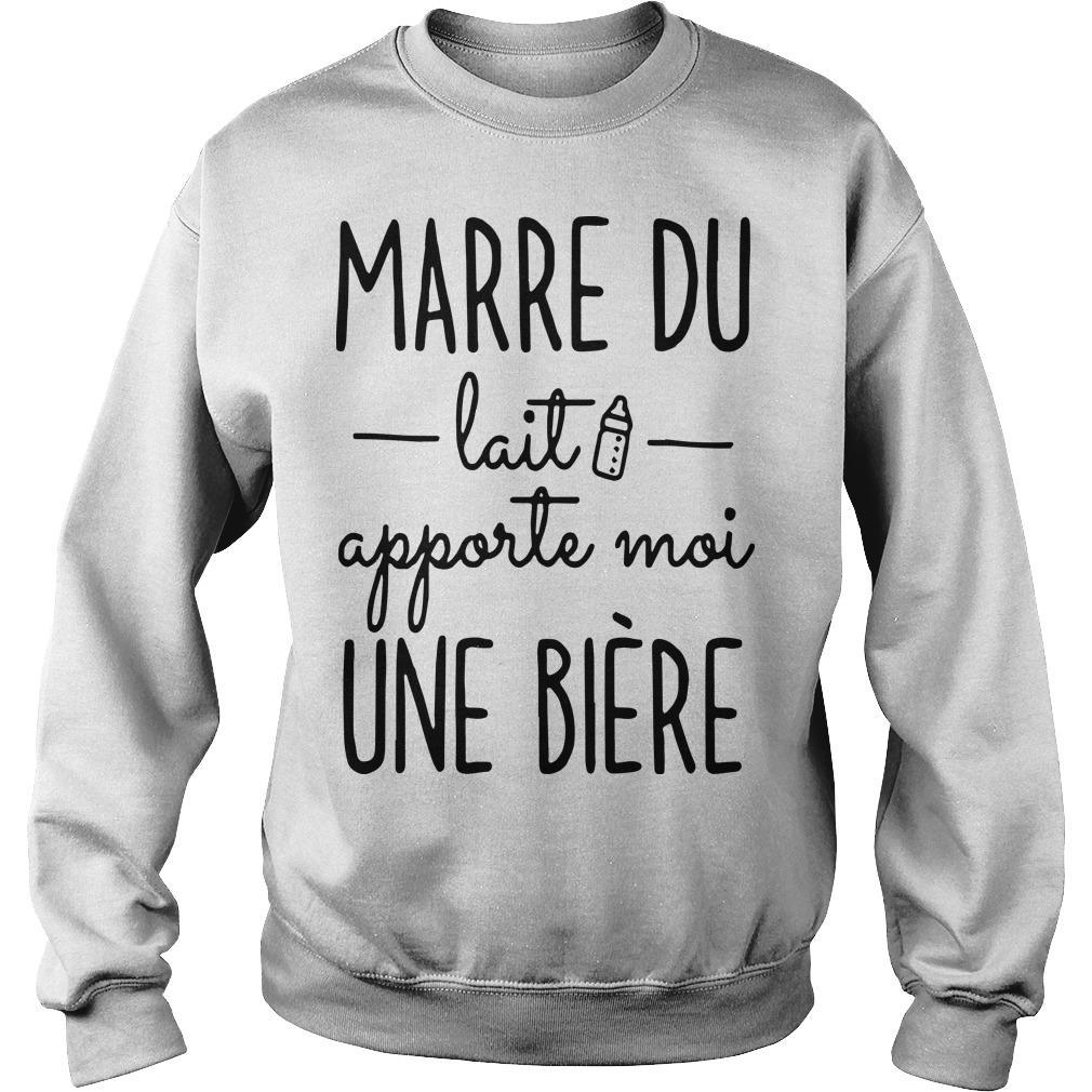 Marre Du Lait Apporte Moi Une Bière Sweater
