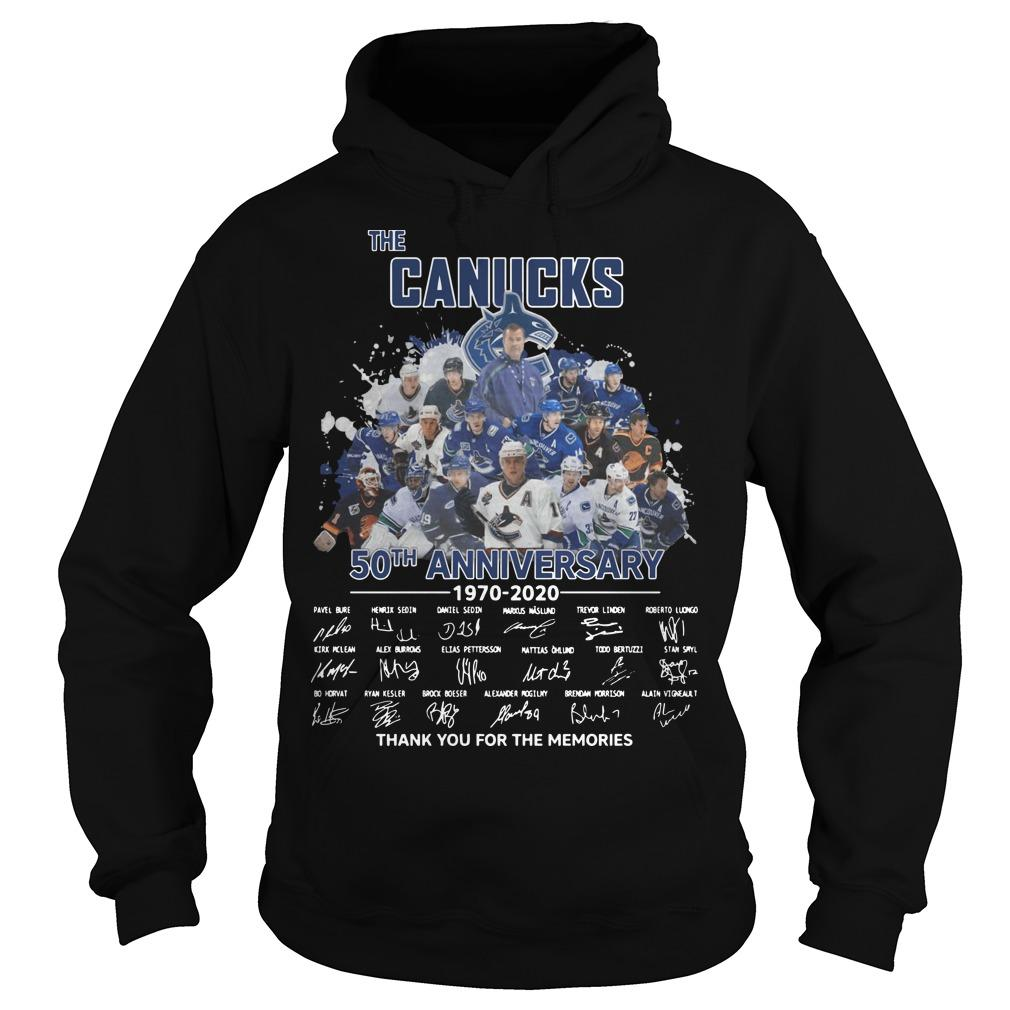 The Canucks 50th Anniversary Thank You For The Memories Hoodie