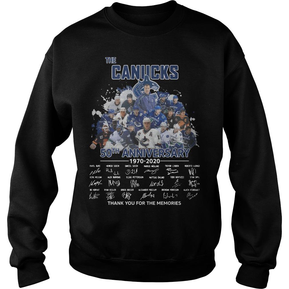 The Canucks 50th Anniversary Thank You For The Memories Sweater