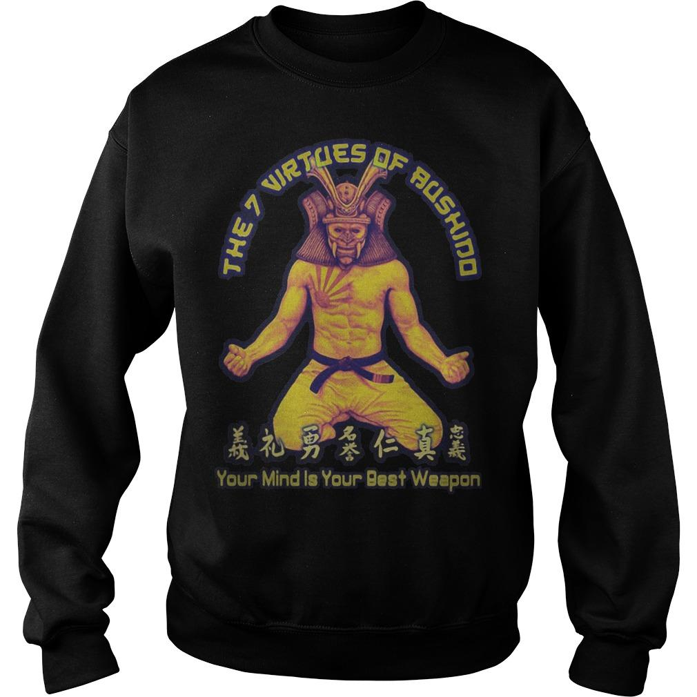 Samurai The 7 Virtues Of Aushind Your Mind Is Your Best Weapon Sweater