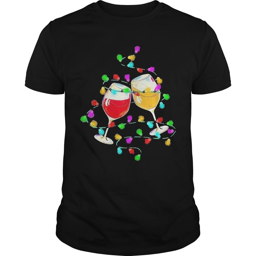 Wines Merry Christmas Light Shirt