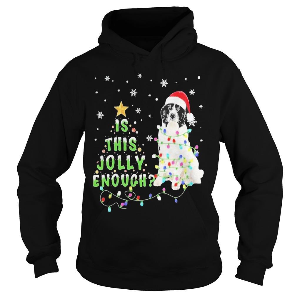 Christmas Tree Santa Landseer Is This Jolly Enough Hoodie