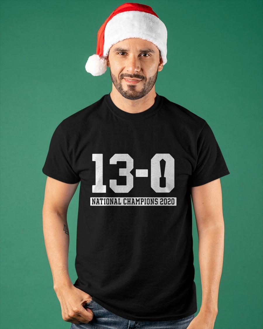 13 0 National Champions 2020 Shirt