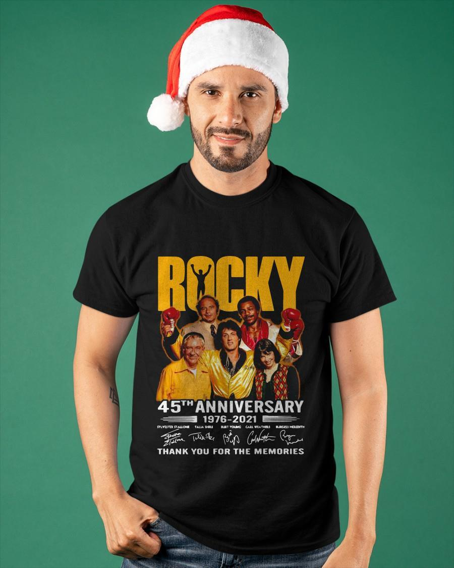 Rocky 45th Anniversary 1976 2021 Thank You For The Memories Shirt