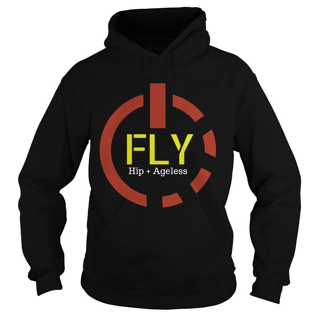 Power Button Fly Hip Ageless Hoodie