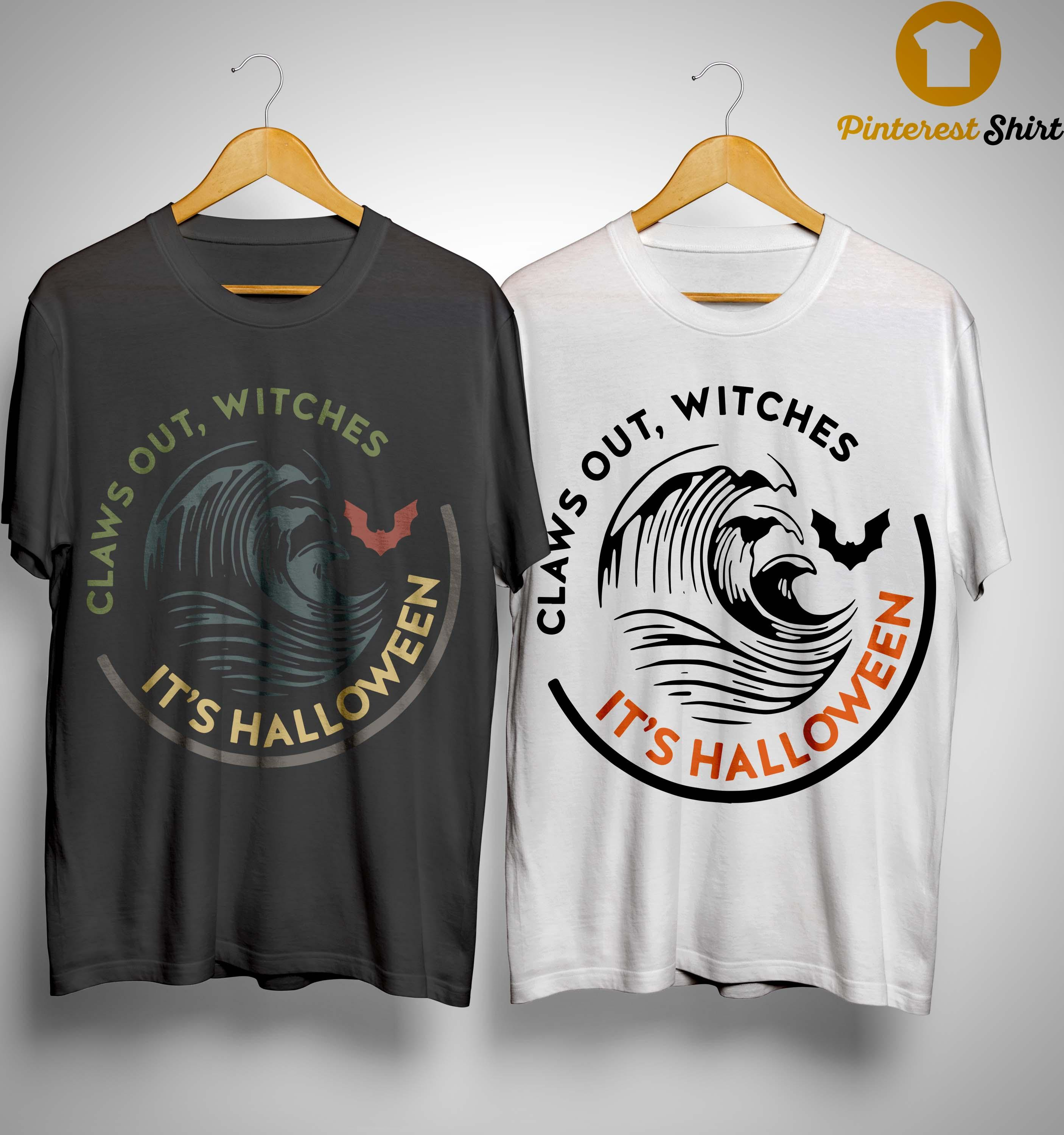 Vintage Claws Out Witches It's Halloween Shirt