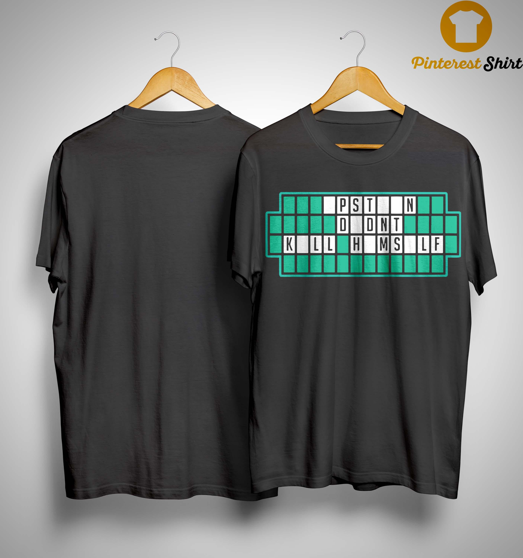 Crossword Solve The Puzzle Pstn Ddnt Kll Hmsld Shirt