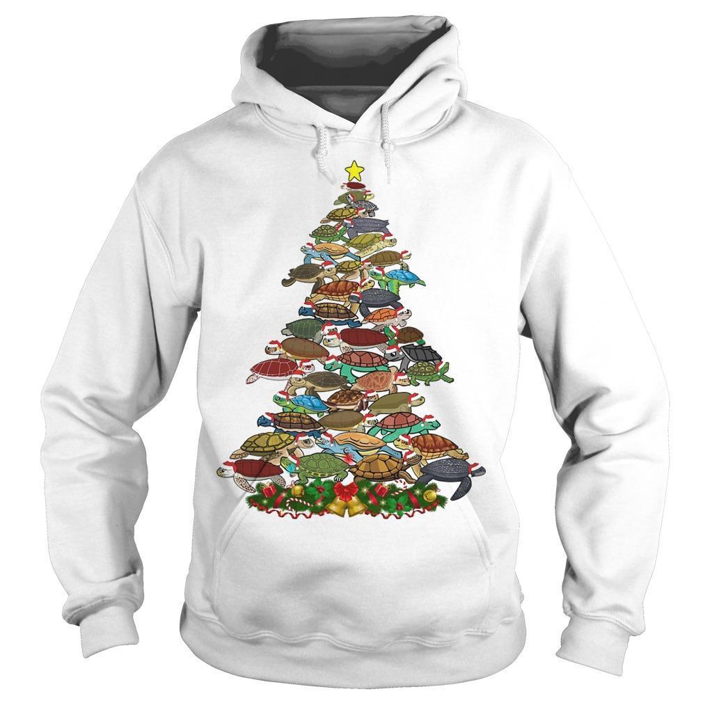 Turtle Christmas Tree Hoodie