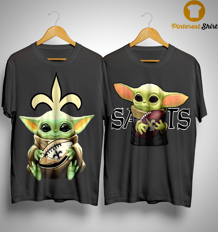 Baby Yoda Hug New Orleans Saints Shirt