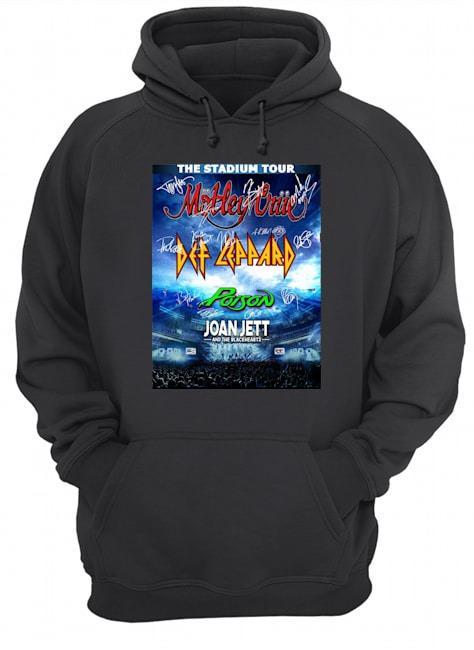 The Stadium Tour Motley Crue Def Leppard Poison Joan Jett Hoodie