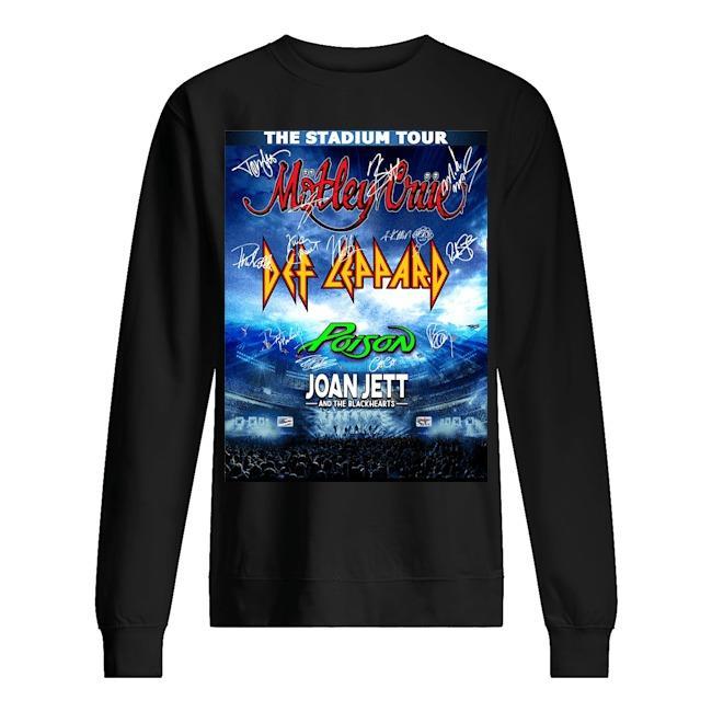 The Stadium Tour Motley Crue Def Leppard Poison Joan Jett Sweater