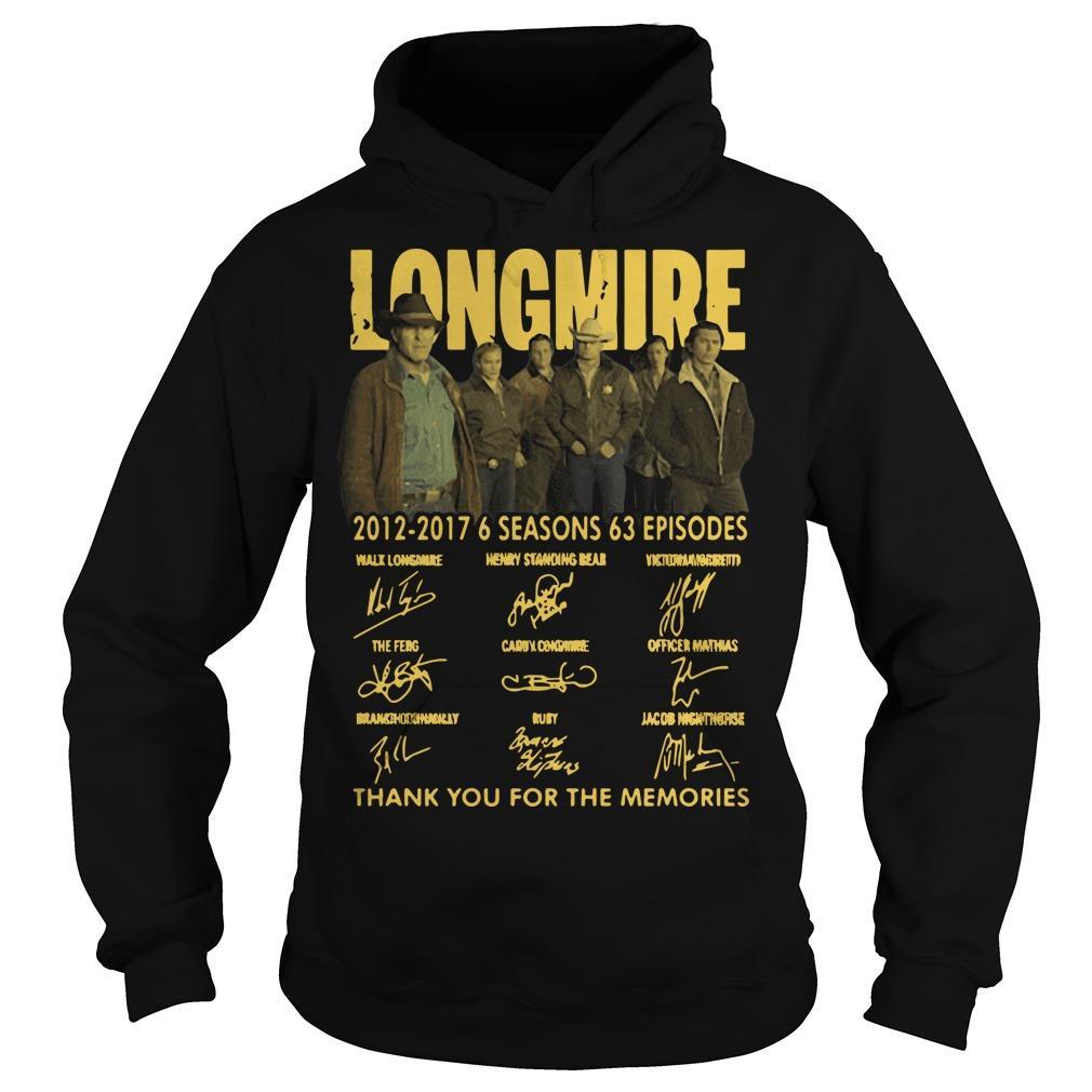 Longmire 2012 2017 6 Seasons 63 Episodes Hoodie