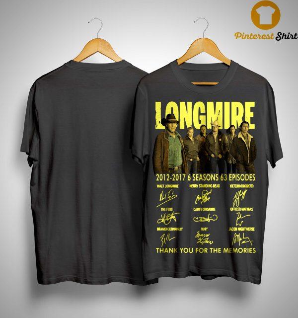 Longmire 2012 2017 6 Seasons 63 Episodes Shirt