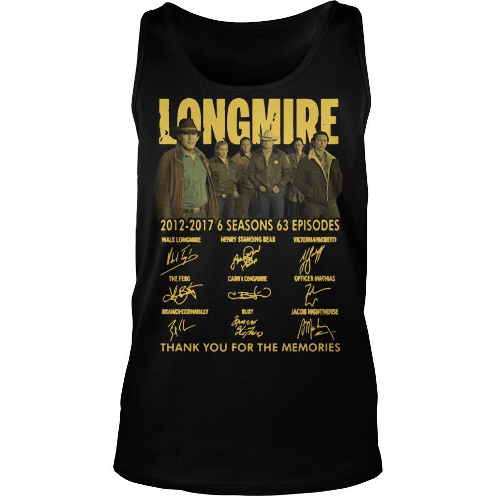 Longmire 2012 2017 6 Seasons 63 Episodes Tank Top