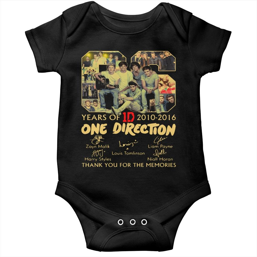 06 Years Of One Direction 2010 2016 Thank You For The Memories Longsleeve