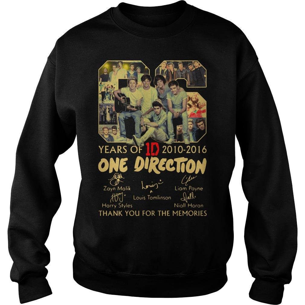06 Years Of One Direction 2010 2016 Thank You For The Memories Sweater