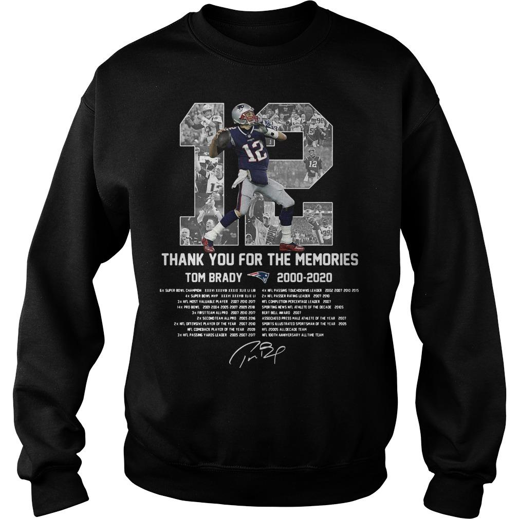 12 Thank You For The Memories Tom Brady 2000 2020 Sweater