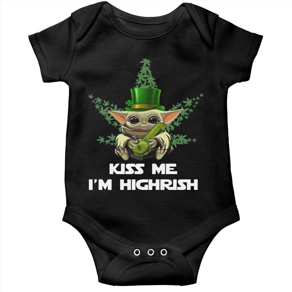 Baby Yoda Kiss Me I'm Highrish Longsleeve
