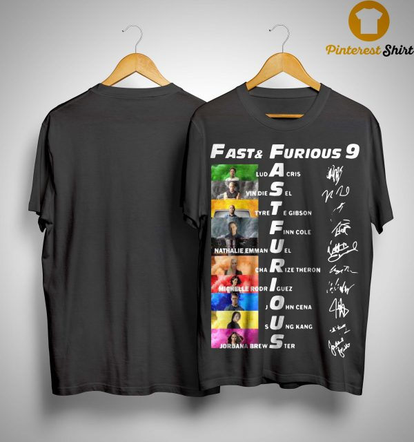Fast And Furious 9 Ludacris Vin Diesel Tyrese Gibson Finn Cole Signatures Shirt