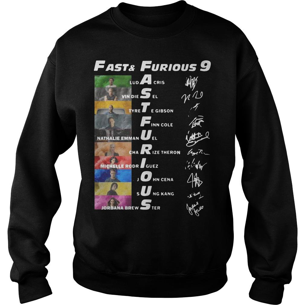 Fast And Furious 9 Ludacris Vin Diesel Tyrese Gibson Finn Cole Signatures Sweater