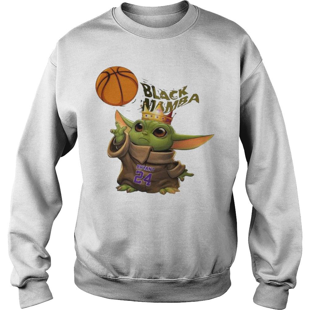 King Baby Yoda Black Mamba Bryant 24 Sweater