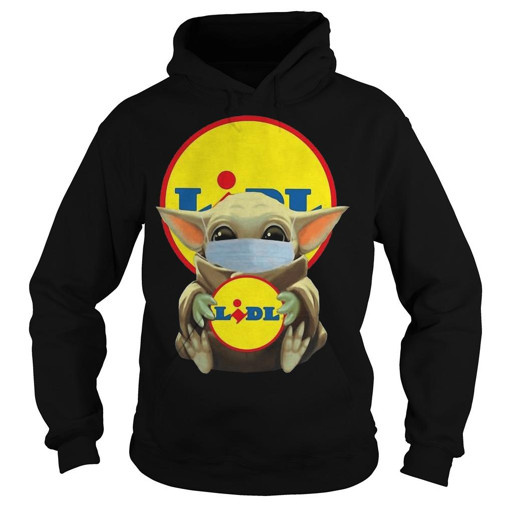 Baby Yoda Mask Hugging Lidl Hoodie