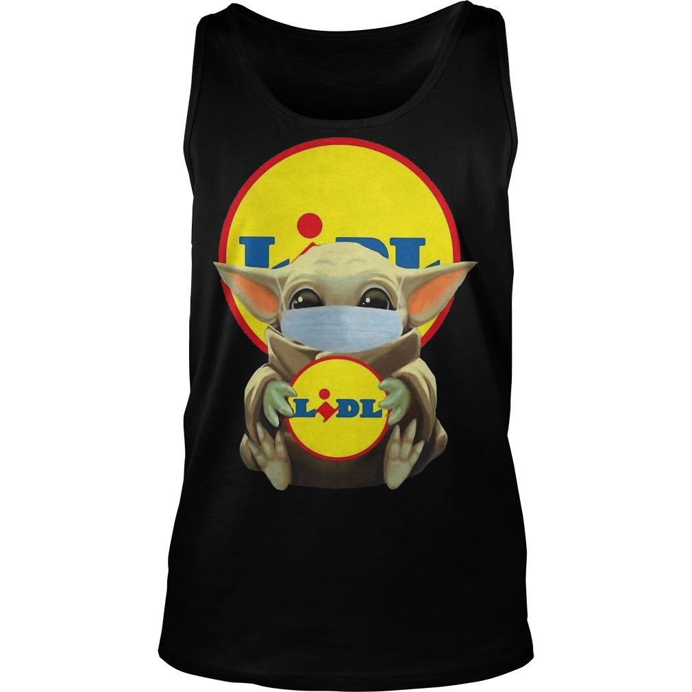 Baby Yoda Mask Hugging Lidl Tank Top