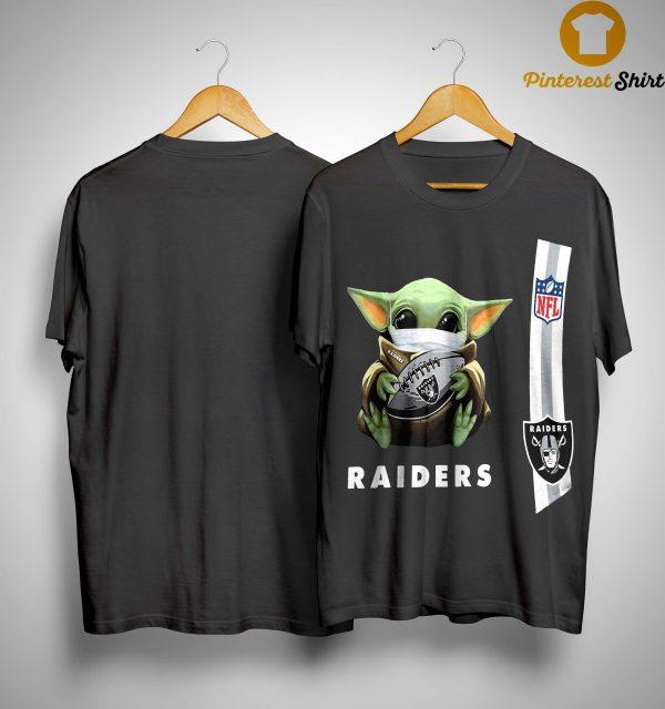Baby Yoda Mask Oakland Raiders Nfl Shirt