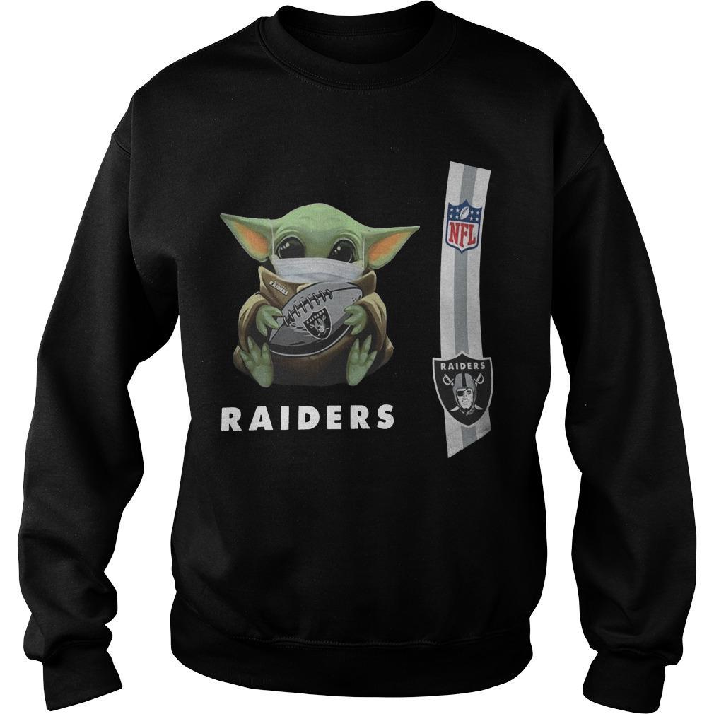 Baby Yoda Mask Oakland Raiders Nfl Sweater