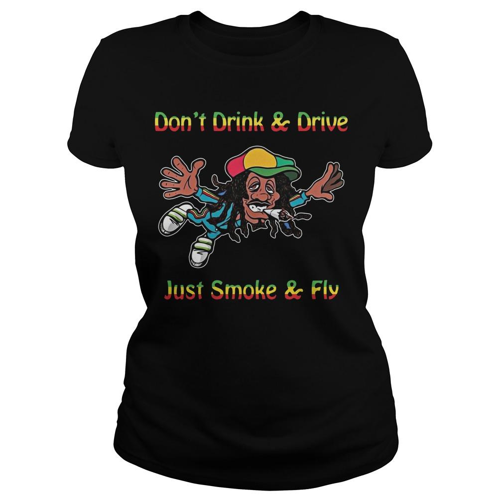 Bob Marley Don't Drink And Drive Just Smoke And Fly Longsleeve