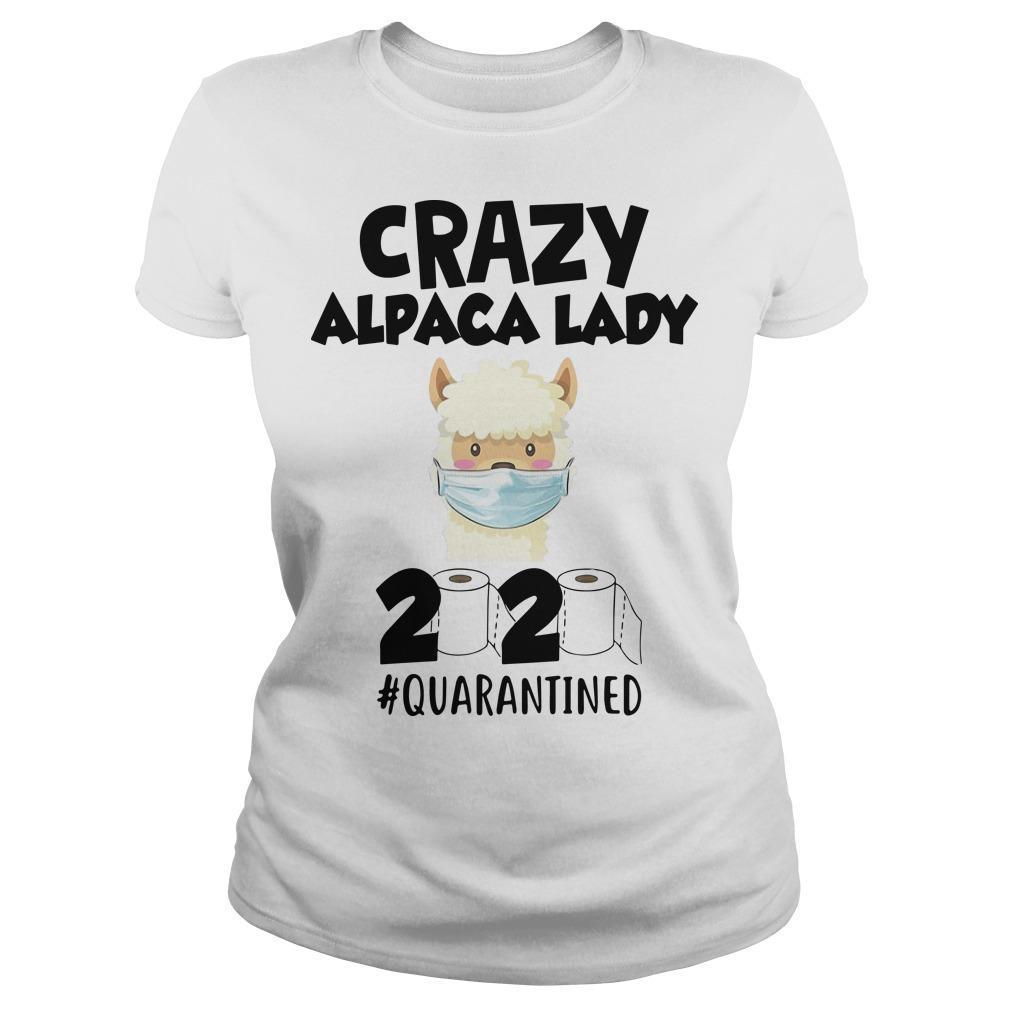 Crazy Alpaca Lady 2020 Quarantined Longsleeve