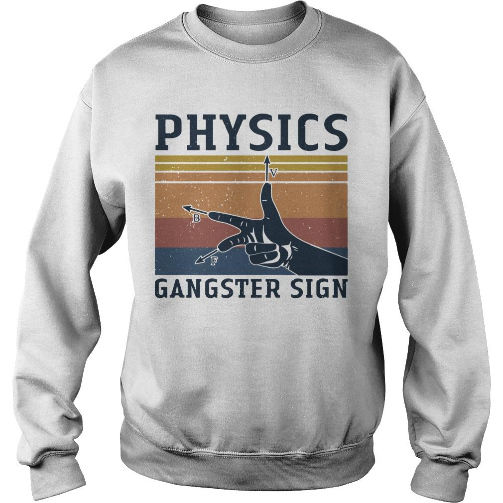 Vintage Physics Gangster Sign Sweater